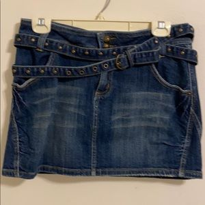 Soundgirl Denim Mini Skirt Size 9.
